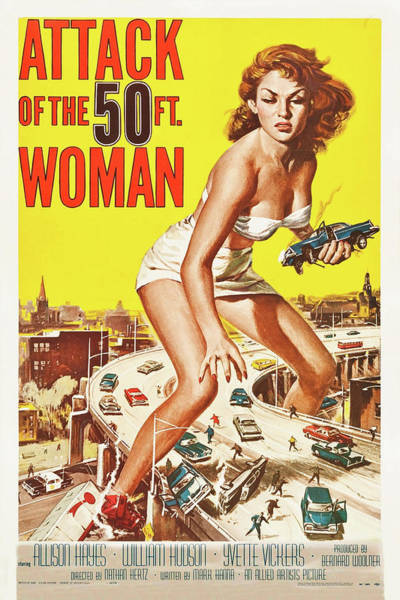 Wall Art - Mixed Media - Attack Of The Fifty Foot Woman 1958 by Movie Poster Prints