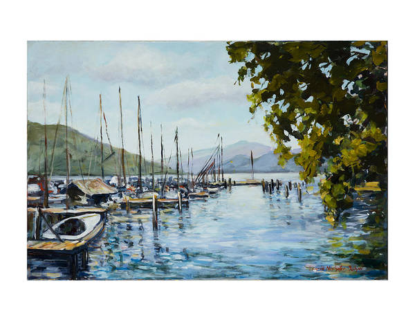 Painting - Attersee Austria by Ingrid Dohm