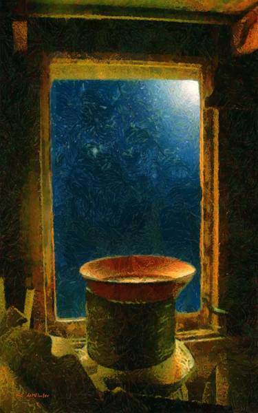 Painting - Attic Window by RC DeWinter