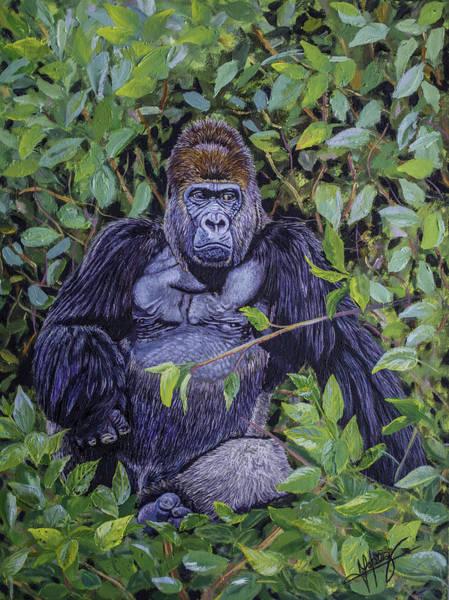 Gorilla Painting - Attitude by Manuel Lopez