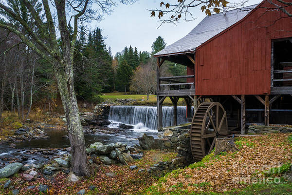Wall Art - Photograph - Autumn Watermill In Vermont by DAC Photo