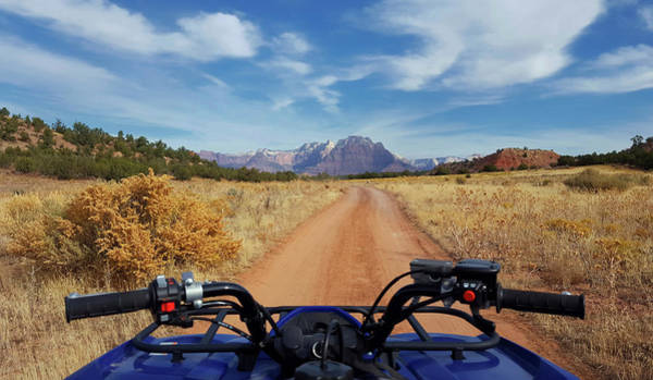 Atv Photograph - Atv In Zion Country by Stephanie McDowell