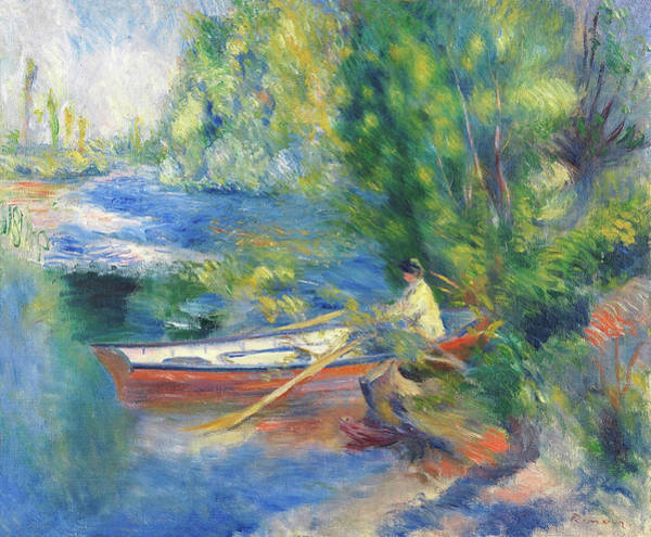 Painting - Au Bord De Leau By Pierre Auguste Renoir 1885  by Movie Poster Prints