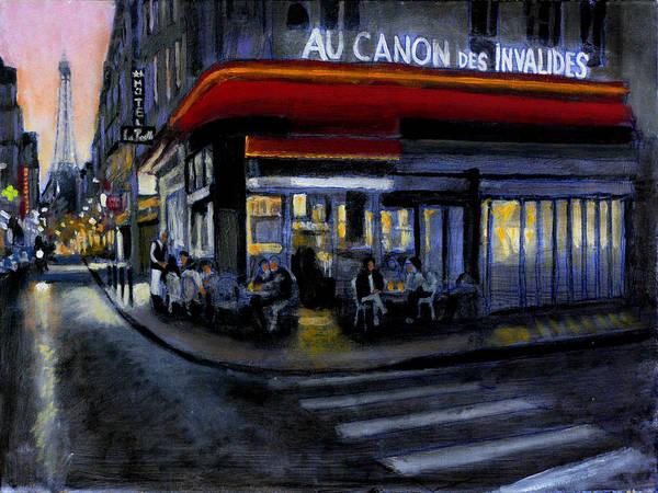 Dining Al Fresco Painting - Au Canon Des Invalides by David Zimmerman