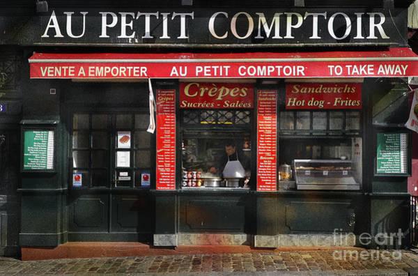 Photograph - Au Petit Comptoir by Craig J Satterlee