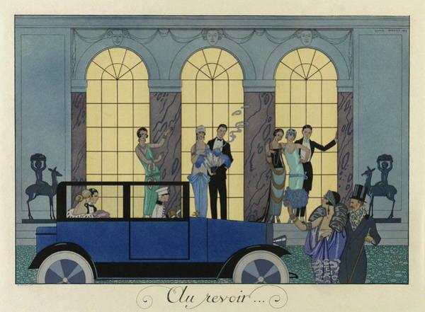 Fashion Plate Painting - Au Revoir From The Portfolio, Le Bonheur Du Jour, Ou, Les Graces A La Mode by Georges Barbier
