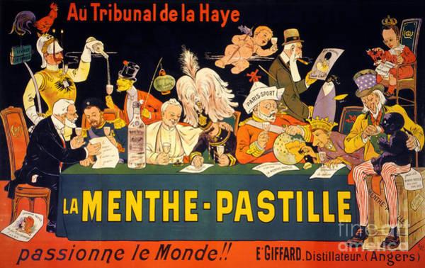 Drunk Mixed Media - Au Tribunal De La Haye La Menthe Pastille Vintage by Vintage Treasure