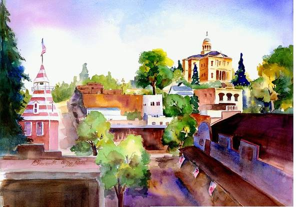 Painting - Auburn Old Town by Joan Chlarson