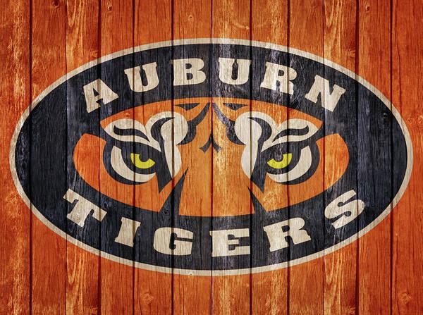 Mixed Media - Auburn Tigers Barn Door by Dan Sproul