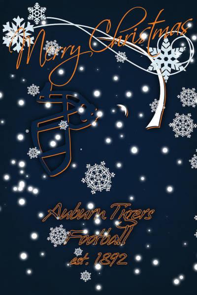 Wall Art - Photograph - Auburn Tigers Christmas Card by Joe Hamilton