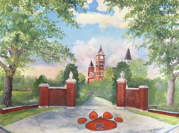 Mccormick Wall Art - Painting - Auburn - Toomer's Corner by ML McCormick