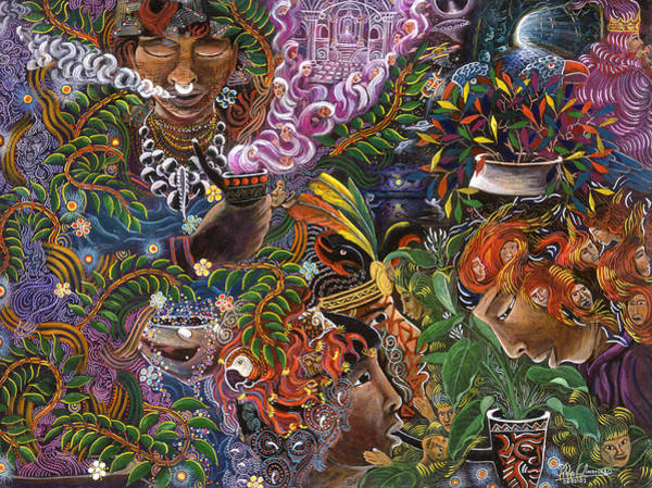 Art Print featuring the painting Auca Yachai by Pablo Amaringo