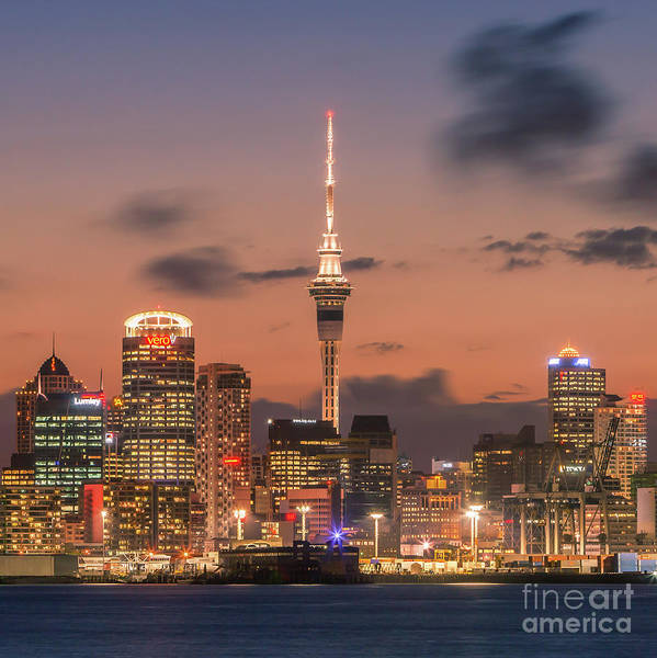 Devonport Wall Art - Photograph - Auckland By Night by Henk Meijer Photography