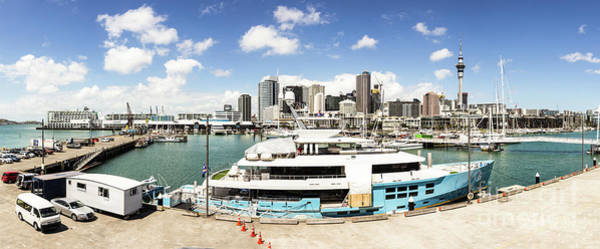 Photograph - Auckland Harbor And Skyline by Didier Marti