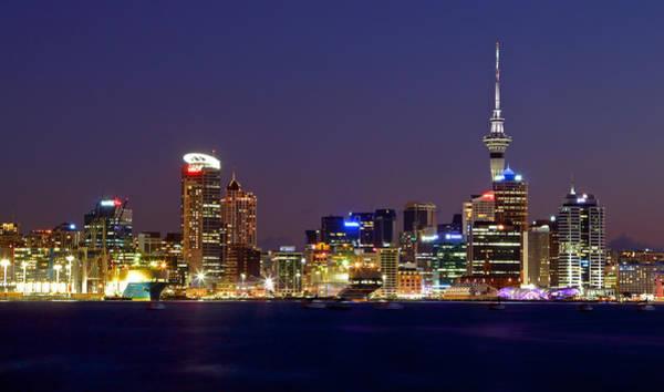 Photograph - Auckland Skyline At Dusk by Nicholas Blackwell