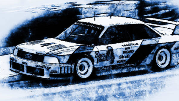 Digital Art - Audi 90 Quattro Imsa Gto - Digital Art 02 by Andrea Mazzocchetti
