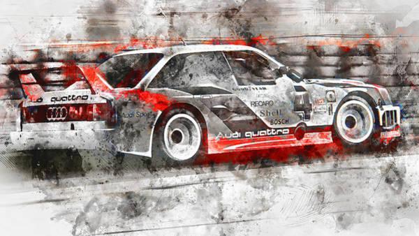 Painting - Audi 90 Quattro Imsa Gto - Watercolor 01 by Andrea Mazzocchetti