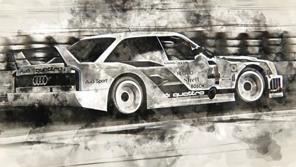 Painting - Audi 90 Quattro Imsa Gto - Watercolor 11  by Andrea Mazzocchetti