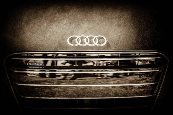 Photograph - Audi Grille Emblem -2333s by Jill Reger