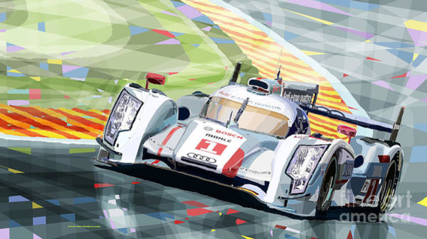 Le Mans 24 Wall Art - Digital Art - Audi R18 E-tron Quattro by Yuriy Shevchuk