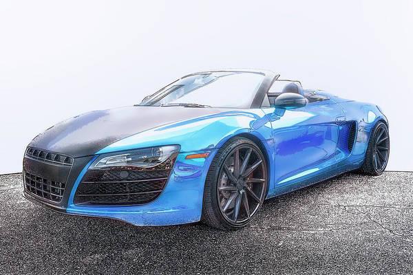 Carbon Fiber Photograph - Audi R8 Convertible by Larry Helms