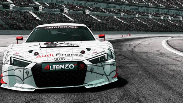 Painting - Audi R8, Daytona International Speedway by Andrea Mazzocchetti