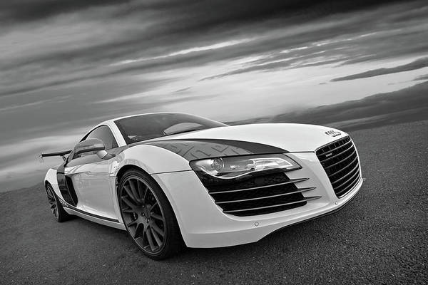 Wall Art - Photograph - Audi R8 In Black And White by Gill Billington