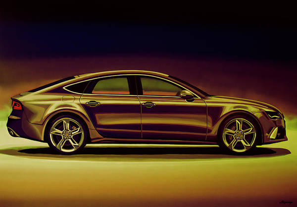 Volkswagen Wall Art - Mixed Media - Audi Rs7 2013 Mixed Media by Paul Meijering
