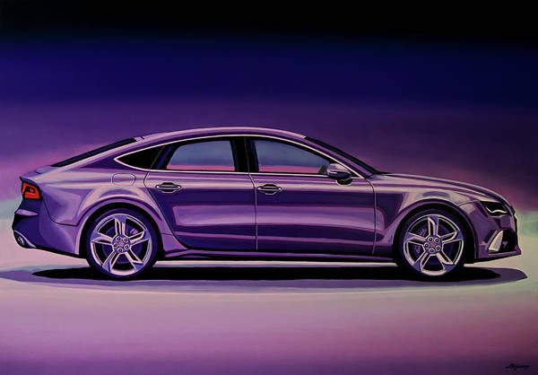 Wall Art - Painting - Audi Rs7 2013 Painting by Paul Meijering