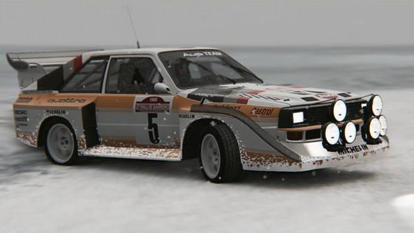 Painting - Audi Sport Quattro 1986 - 07 by Andrea Mazzocchetti