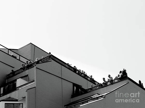 Photograph - Audiences On The Roof by Fei A