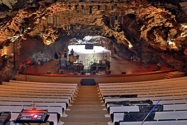Photograph - Auditorium In Jameos Del Agua by Tony Murtagh