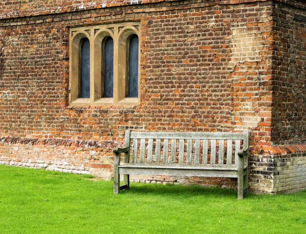 Photograph - Audley Hall Bench by Jean Noren
