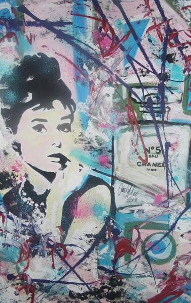 Painting - Audrey Chanel by Antonio Moore