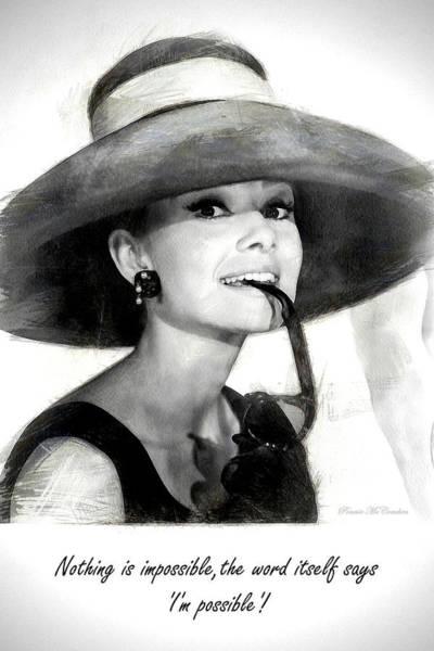 Digital Art - Audrey Hepburn 2 by Pennie McCracken