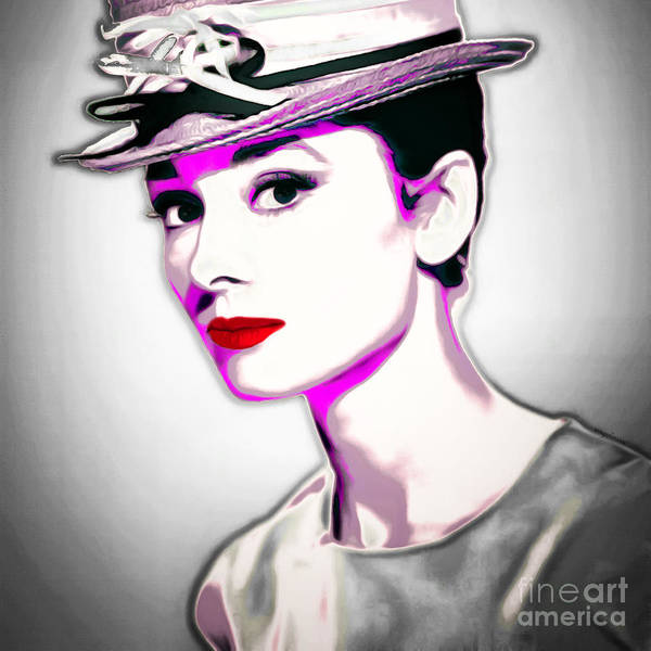 Photograph - Audrey Hepburn 20151220 Square by Wingsdomain Art and Photography