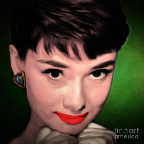 Photograph - Audrey Hepburn 20151221 Square by Wingsdomain Art and Photography