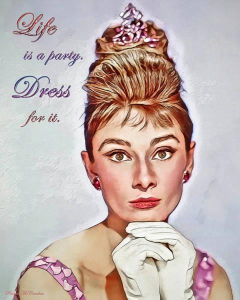 Digital Art - Audrey Hepburn 3 by Pennie McCracken