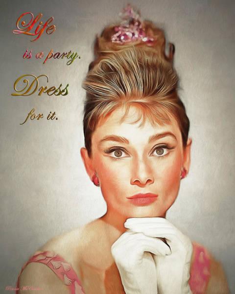 Digital Art - Audrey Hepburn 4 by Pennie McCracken