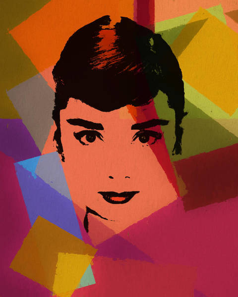 Hair Stylist Mixed Media - Audrey Hepburn Pop Art 1 by Dan Sproul