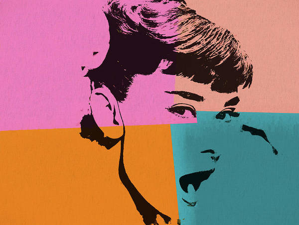 Hair Stylist Mixed Media - Audrey Hepburn Pop Art 2 by Dan Sproul