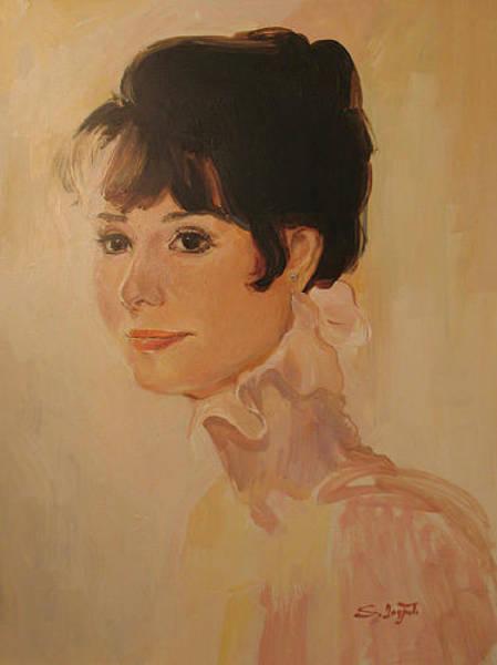 Painting - Audrey Hepburn by Tigran Ghulyan
