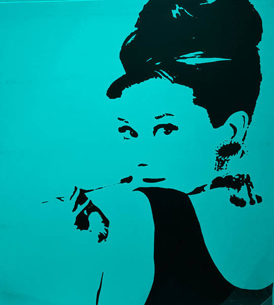Photograph - Audrey Light Blue by Rob Hans