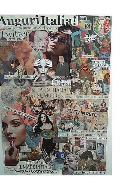 Capitalism Mixed Media - Auguri Italia Wishes Italy by Francesco Martin