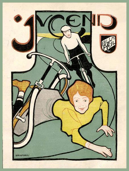 Painting - August 29 1896 Juaugust 29 1896 Jugend Magazine Covergend Magazine Cove by Jugend Magazine
