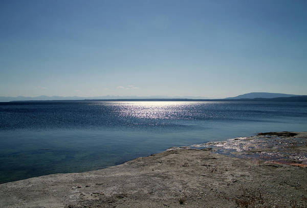 Doona Mixed Media - August High Noon Yellowstone Lake 01 by Thomas Woolworth