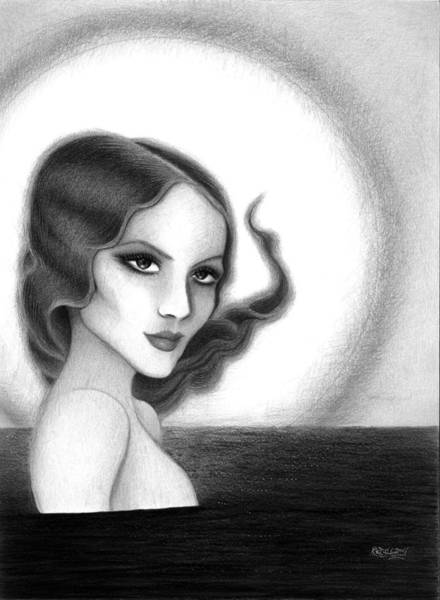 Skinny Drawing - August Honey Colorless by Danielle R T Haney