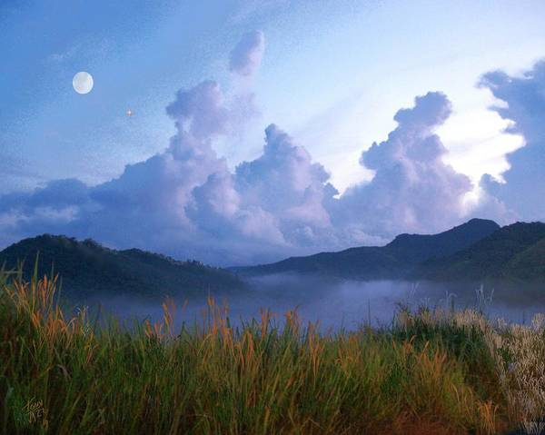 Digital Art - August Moon by Tony Rodriguez