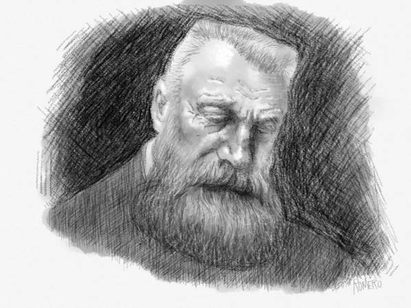 Digital Art - Auguste Rodin by Antonio Romero