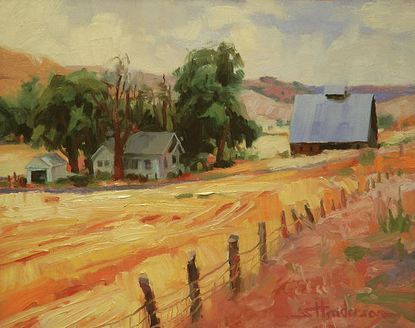 Fences Wall Art - Painting - August by Steve Henderson